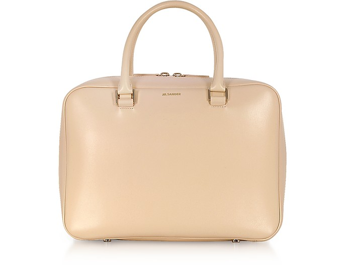 J-Vision Small Leather Satchel Bag - Jil Sander