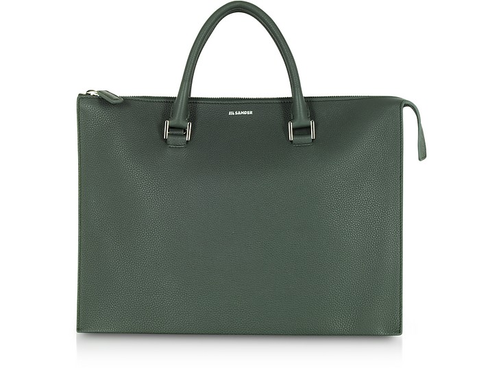 Tootie Knitted Leather Tote Bag - Jil Sander