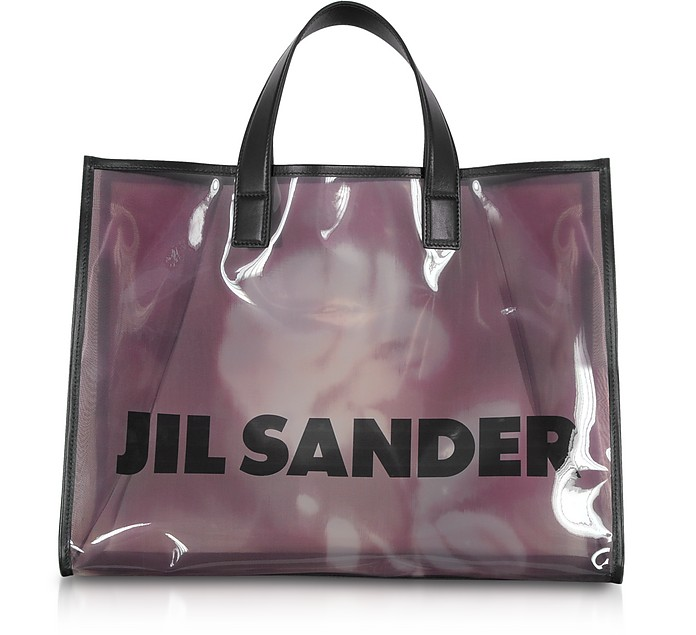 See-through Medium Vinyl Tote bag - Jil Sander