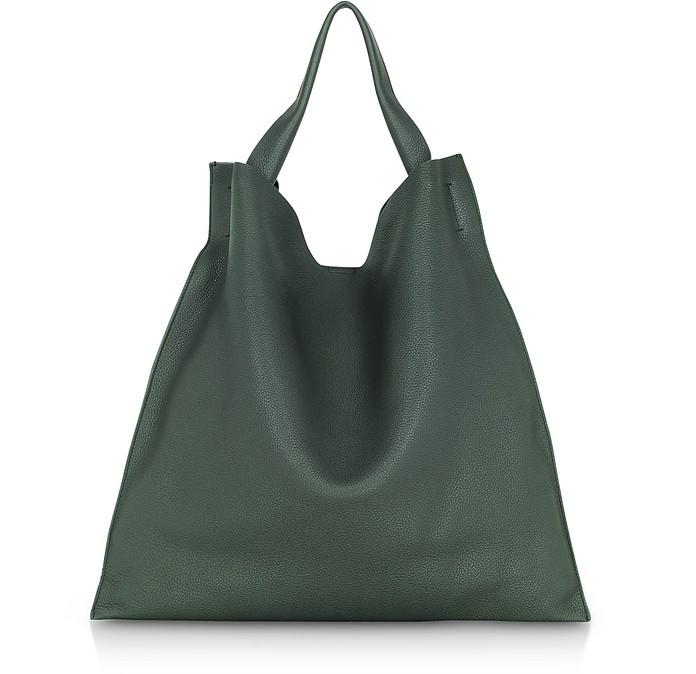 Dark Green Medium Leather Xiao Bag - Jil Sander