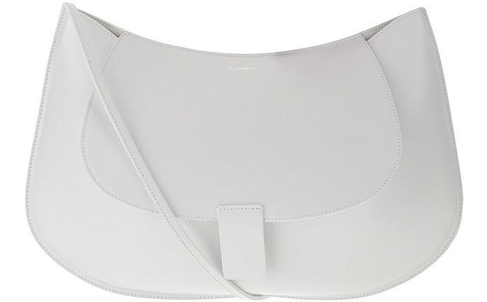 White Leather Shoulder Bag - Jil Sander