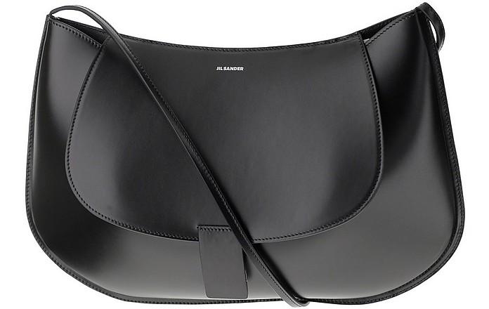 Black Leather Shoulder Bag - Jil Sander