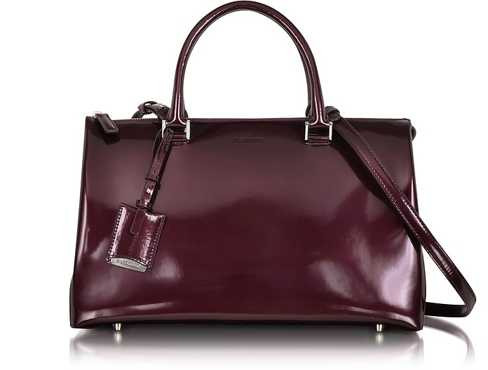 Purple Patent Leather Medium Jil Bag - Jil Sander