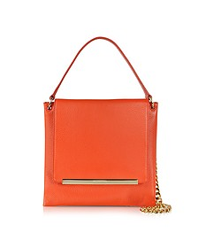 Double Square Leather Shoulder Bag