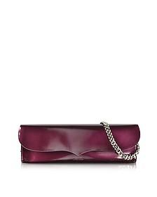 Purple Patent Leather Jane Clutch