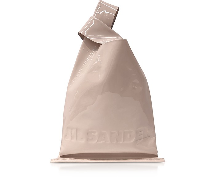Soft Patent Leather Market Bag - Jil Sander