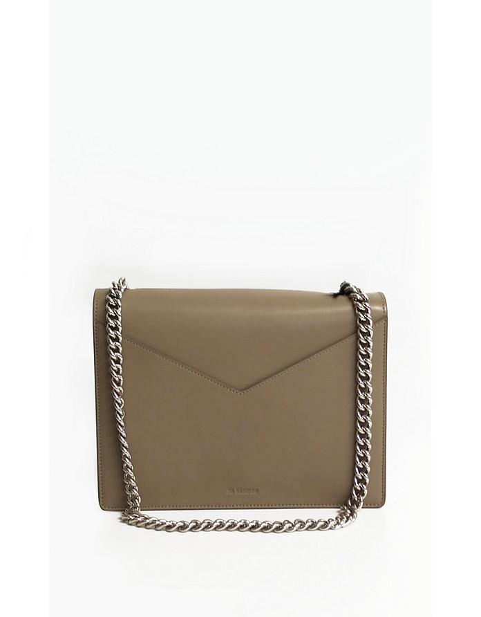 Natural Leather Shoulder Bag - Jil Sander
