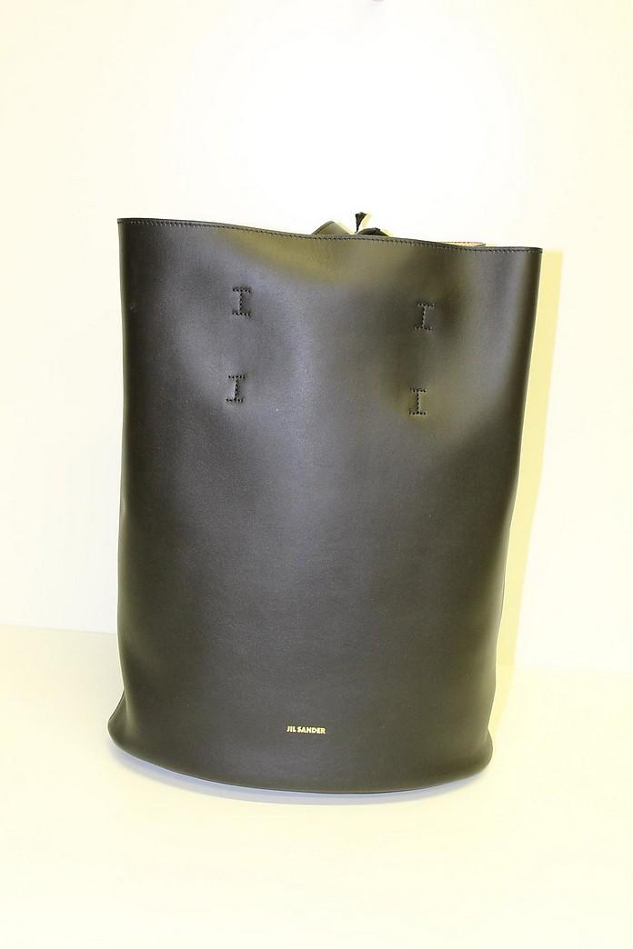 Black Leather Backpack - Jil Sander