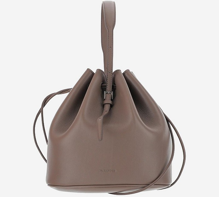 Mud Leather Bucket Bag w/Top Handle Bag - Jil Sander