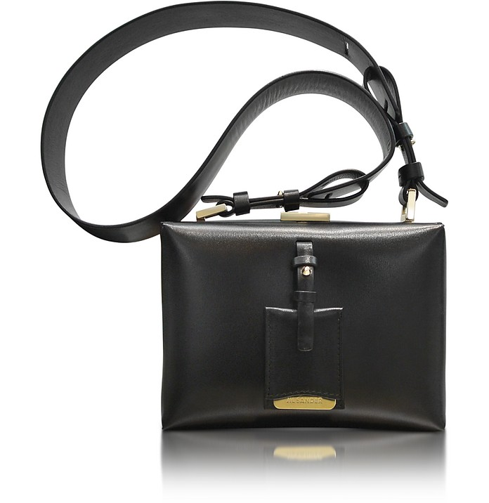 Nuvoletti Black Leather Shoulder Bag - Jil Sander
