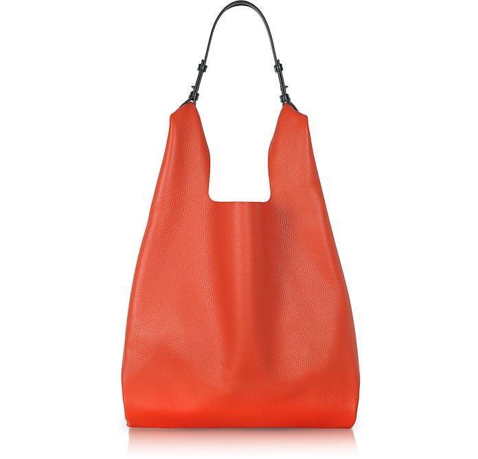 Color Block Leather New Market Bag - Jil Sander