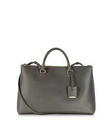 Dark Gray New 3 Zipper Tote