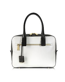 Patrizi Color Block Leather Satchel Bag