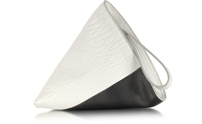 Perin Color Block Leather Clutch - Jil Sander