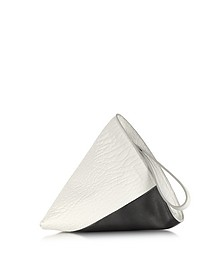 Perin Color Block Leather Clutch