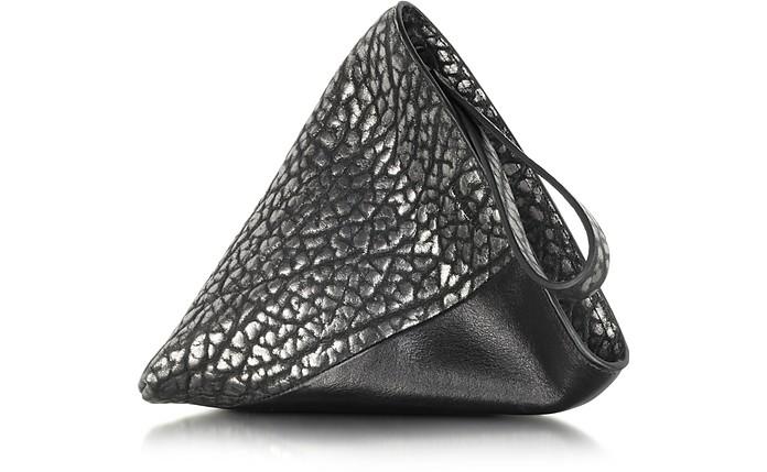 Perin Metallic Leather Clutch - Jil Sander