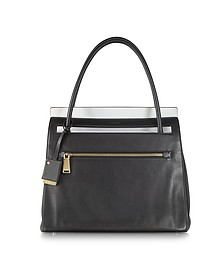 Paterson Black Leather Tote