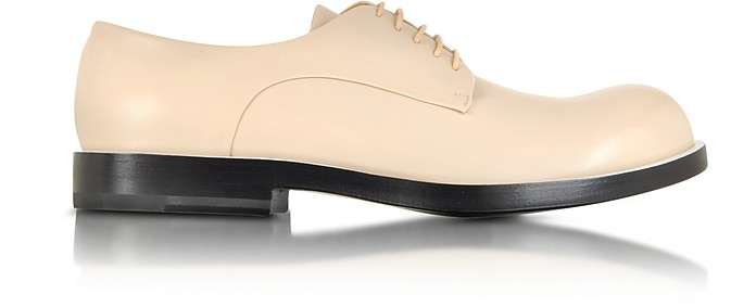 Derbies en cuir rose - Jil Sander