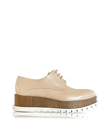 Nude Leather Platform Oxford Shoe - Jil Sander