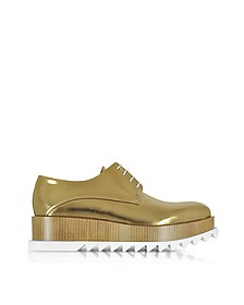 Bronze Leather Platform Oxford Shoe - Jil Sander / ジル サンダー