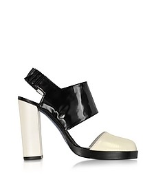 Black and Cream High Heel Slingback - Jil Sander