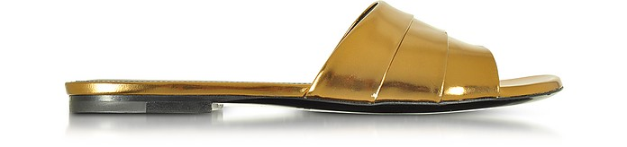 Laminated Leather Flat Slide - Jil Sander / ジル サンダー