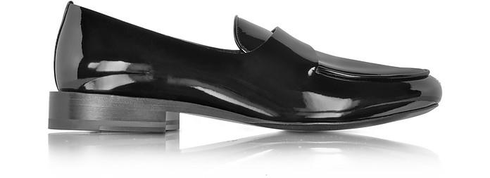 Black Patent Leather Loafer - Jil Sander