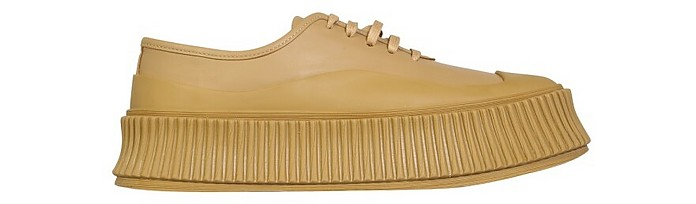 Leather Sneakers - Jil Sander