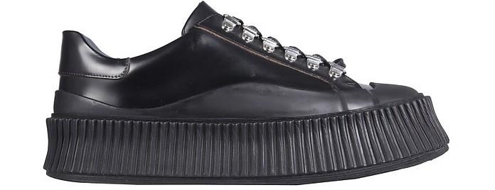 Leather Sneakers - Jil Sander