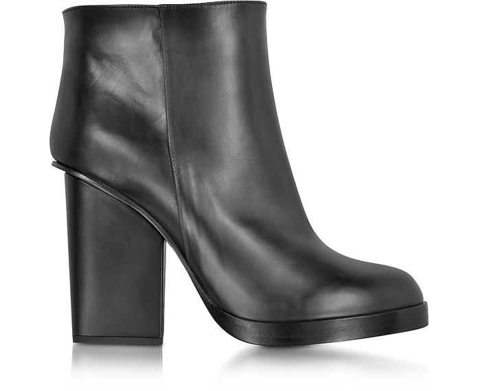 Black Leather Ankle Boot - Jil Sander
