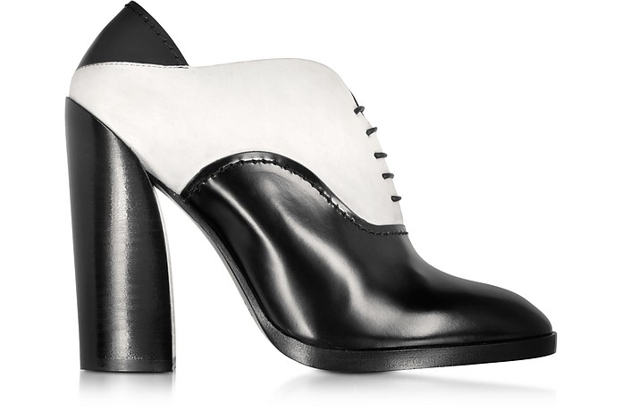 Francesina Black and White in Pelle e Suede - Jil Sander