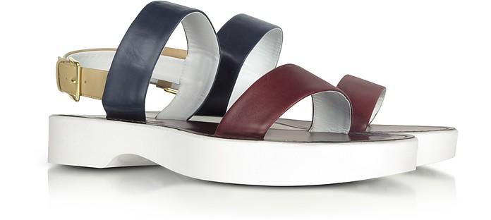 Color Block Leather Sandal - Jil Sander