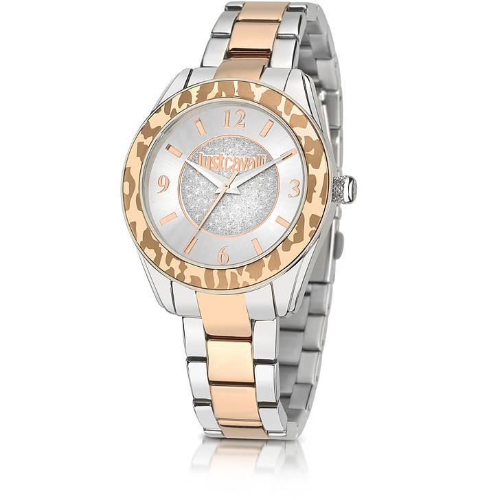 Just Style Two Tone Stainless Steel Women's Watch - Just Cavalli