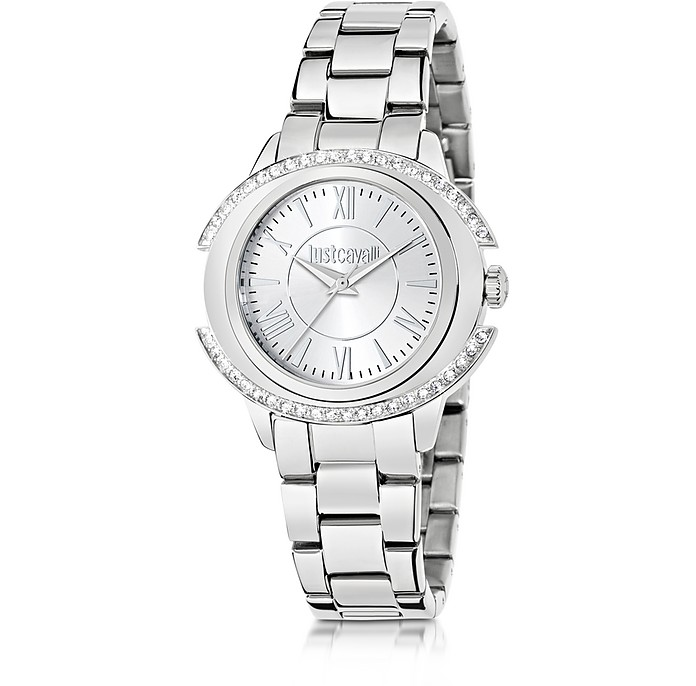 Just Decor Silver Tone Stainless Steel Women's Watch - Just Cavalli