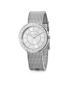 Just Shiny Silver Tone Stainless Steel Women's Watch - Just Cavalli