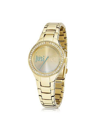 Just Shade 3H Gold Tone Stainless Steel Women's Watch - Just Cavalli