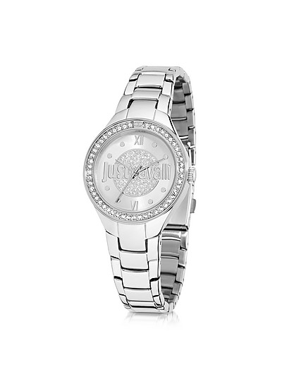 Just Shade 3H Silver Tone Stainless Steel Women's Watch - Just Cavalli