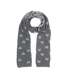 Multi Heart Women's Long Scarf - Julia Cocco'