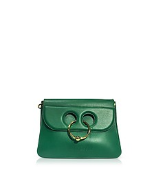 Emerald Green Leather Medium Pierce Bag - JW Anderson