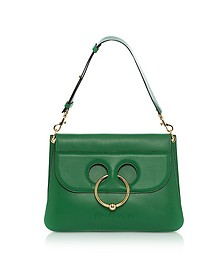 Emerald Green Leather Medium Pierce Bag - JW Anderson