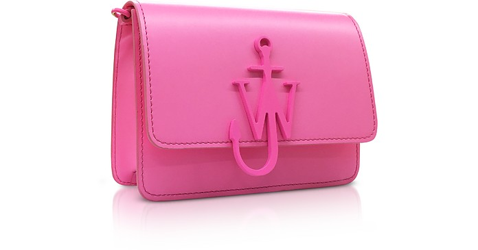 597a3c5568a JW Anderson Pink New Mini Logo Purse w Shoulder Strap at FORZIERI
