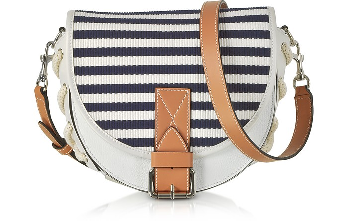 Small Bike Striped Canvas Shoulder Bag - JW Anderson