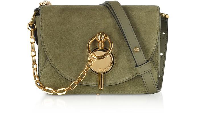 Olive Green Suede Nano Keyts Bag - JW Anderson
