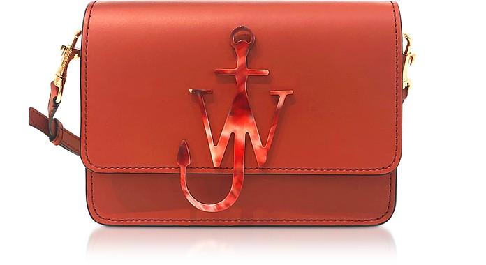 Ginger Leather Anchor Logo Bag - JW Anderson