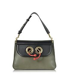 Military Green Medium Pierce Bag w/Eyelets - JW Anderson