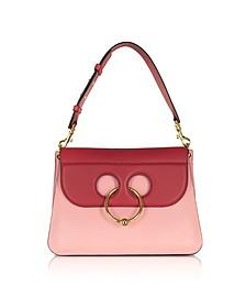 Crimson Red and Pink Bubblegum Leather Medium Pierce Bag - JW Anderson
