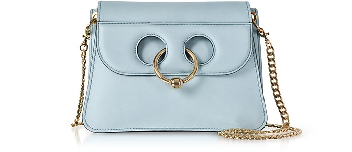 Dusty Blue Mini Pierce Bag - JW Anderson