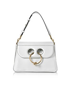 White Leather Medium Pierce Bag - JW Anderson