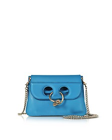 Cerulean Blue Leather Mini Pierce Bag - JW Anderson