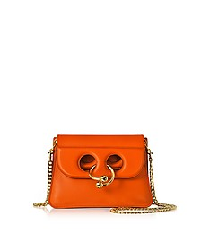 Tangerine Leather Mini Pierce Bag - JW Anderson